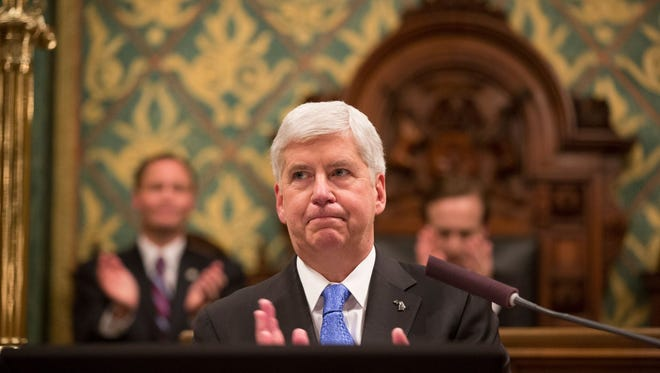 Michigan Governor Rick Snyder, a Republican, is in his last few weeks of office.