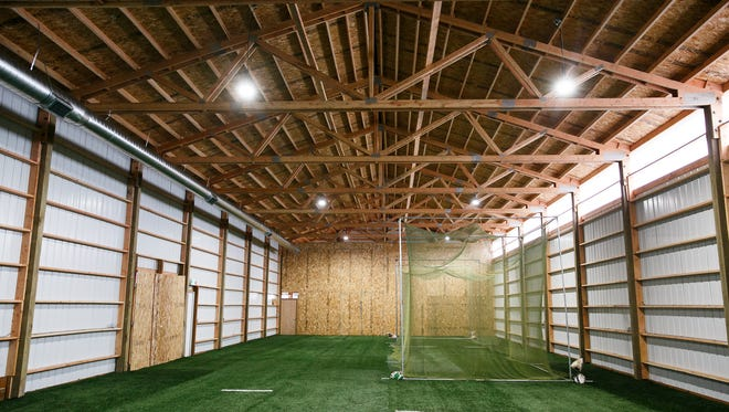 The Volcanoes Indoor Training Facility on Friday, Feb. 9, 2018. The team hopes to open the facility in March, and it will be available to the public for rental.