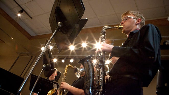Members of the Oak Creek High School Band, including senior Ben Geis, 18, perform during the 2014 Taste of Oak Creek. This year's Taste of Oak Creek-Franklin will be held March 8 at the Oak Creek Community Center.
