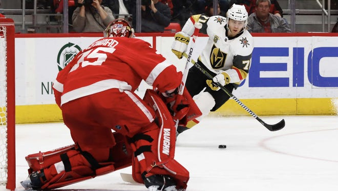 William Karlsson scored six goals in 81 games in 2016-17. He was left unprotected by Columbus in the expansion draft in June of 2017. Karlsson scored 43 goals in 2017-18 for Vegas.