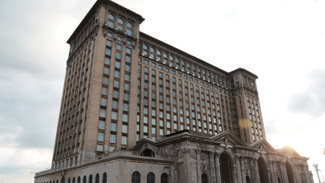 A view of the exterior of Michigan Central Station in Detroit is seen on Wednesday September 13, 2017 during Crain's Detroit Homecoming IV event.