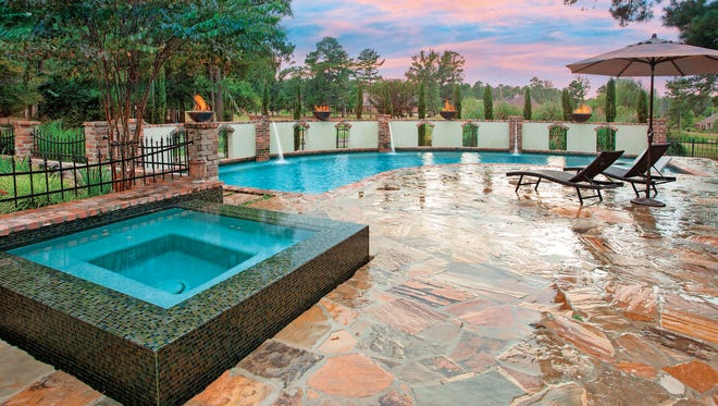 Homeowners can add other features to a pool area, such as cascading waterfalls, resort-style tube slides and fountains.