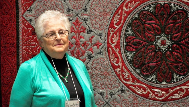 Quilting is Good Therapy - Quilting is Good Therapy from Fort Branch are semifinalists for the 2018 AQS QuiltWeek – Spring Paducah, Kentucky, April 18 – 21, 2018, at the Schroeder Expo & Carroll Convention Center in Paducah, Kentucky. Bernadette Pohl has been chosen to display the quilt, MOM'S THERAPY QUILT, along with 404 others in the annual contest, now in its 34th year. Quilts were entered in this international contest from 45 US states and 13 other countries. The American Quilter's Society hosts several shows annually, each with its own quilt contest. Besides the Paducah, show, AQS hosts other prestigious shows in Daytona Beach, Florida; Lancaster, Pennsylvania; Grand Rapids, Michigan; and Virginia Beach, Virginia.