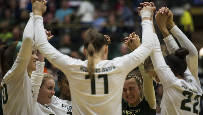 The CSU volleyball team finished its non-conference schedule 8-4.