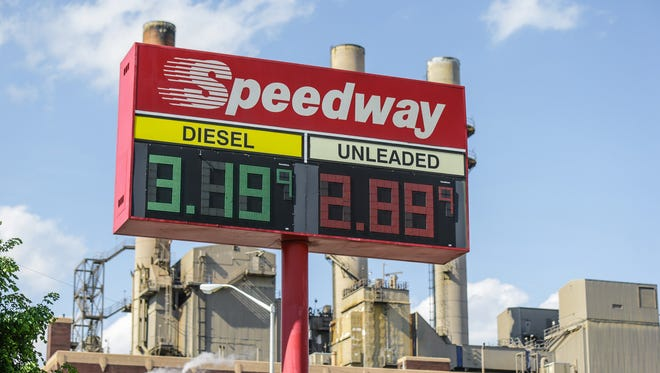 Gas prices are posted at the Speedway Gas Station located at 401 S. Kentucky Ave. in Indianapolis on Thursday, May 10, 2018.