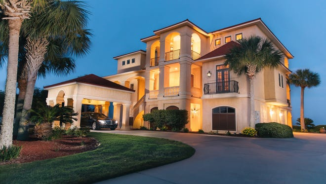 565 Windrose Circle, evening view.
