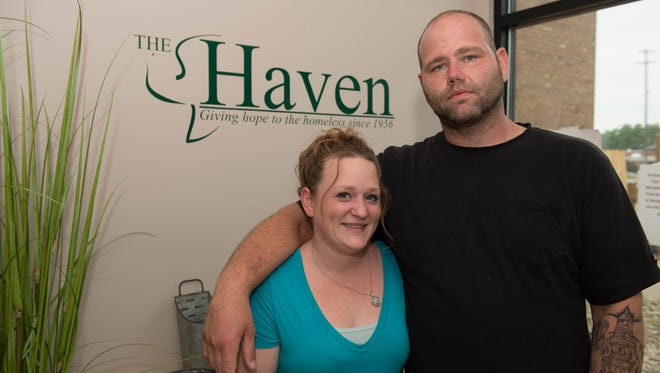 Husband and wife, Arielle and Matt Jones, both graduated from The Life Recovery programs offered for both men and women at The Haven of Rest Ministries. Both programs will face budget cuts in July.
