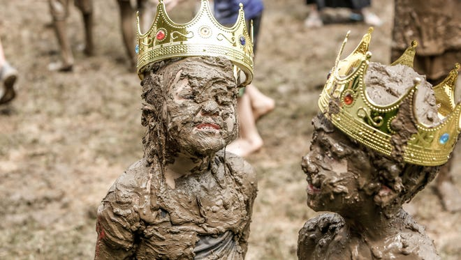 As the event drew to a close Molly Kofahl 4, and Charlie Daviskiba 3, were crowned 2018 Mud Day king and queen.