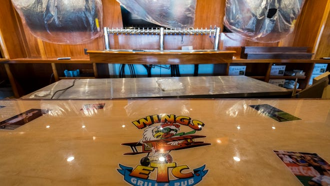 The downstairs bar at Wings Etc. in Port Huron. The restaurant plans to be open in early August and will have 30 TV's, 24 beer taps, 40 different bottled beers and 19 different wing options.
