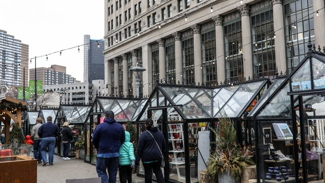 The Cadillac Holiday Market presented by Bedrock and Quicken Loans featured small businesses at the Meridian Winter Blast in downtown Detroit on Saturday, Jan. 27, 2018.