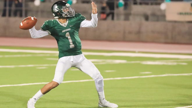 Dinuba High junior Josh Magana passed for 33 touchdowns in his breakout sophomore campaign in 2017.