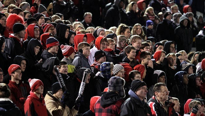 The La Salle student section during last weekend's game against Mt. Healthy.
