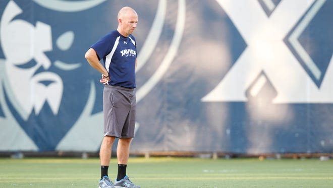 Xavier soccer coach Andy Fleming