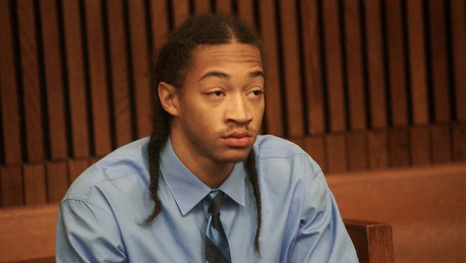 Cass Tech. standout Jayru Campbell, is sentenced in the Wayne County Circuit Courtroom of Judge Timothy Kenny Friday May 30, 2014 at the Frank Murphy Hall of Justice in Detroit.