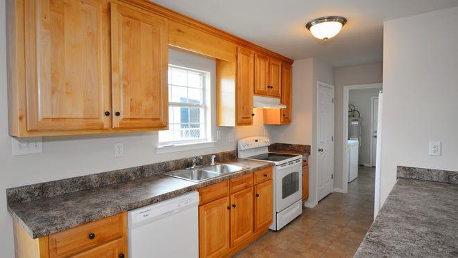 S.S. Steele Inglewood model home, charming kitchen.