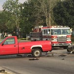 Richmond's East Main Street was closed between Henley and Elks roads for more than three hours Tuesday after a serious accident involving a motorcycle and a pickup.