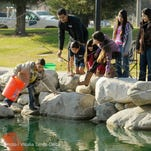 Hundreds of kids and parents came out to try their luck and test their skills at fishing during Tulare Parks and Recreation Department's annual fishing derby Saturday at Del Lago Park, 1700 N. Laspina St., Tulare.