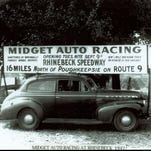 Midget car racing made its official debut on a brand new fifth-mile track at the Dutchess County Fairgrounds in 1947. This weekend, pioneering drivers and car owners will greet fans at a special exhibition about the Rhinebeck Speedway at the grounds' Arts and Craft building.