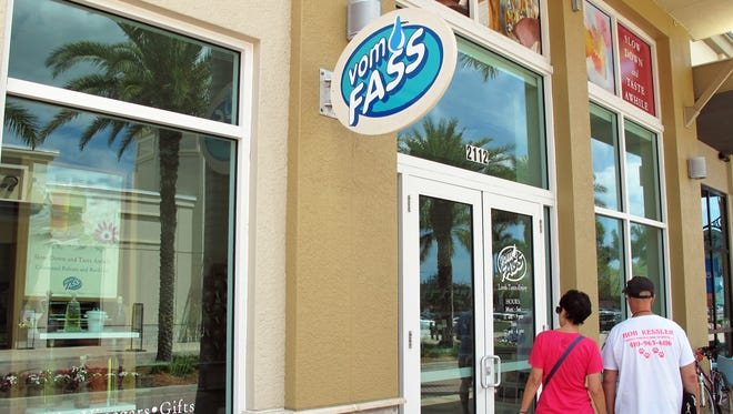 The Vom Fass specialty store permanently closed March 10 in Mercato.