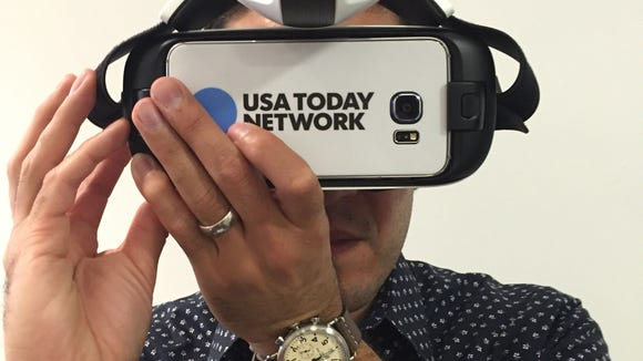 On July 13, Ray Soto, creative lead of applied technologies for the USA TODAY Network, brought several virtual reality headsets to the One Nation: American Innovation event presented by FLORIDA TODAY and USA TODAY Network and sponsored by Harris Corp.