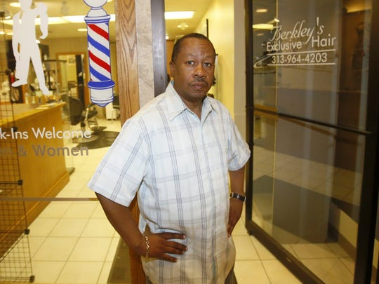 Berkley Knott owns Berkley's Exclusive Hair in the Ford Building on Griswold. His business has been in the downtown area for 19 years.