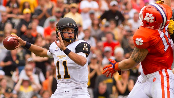 Lamb (11) sat an Appalachian State record by throwing