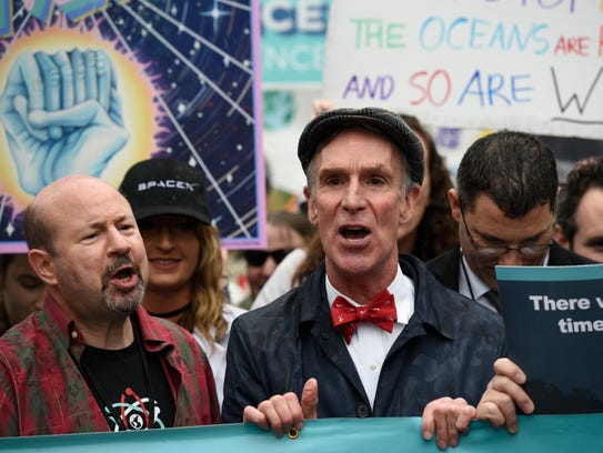 "Bill Nye ""The Science Guy"" participates in the March"
