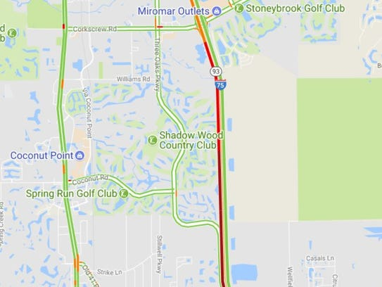 A crash on I-75 southbound created major traffic delays