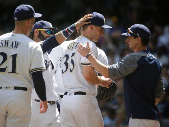 Brewers pitcher Brent Suter has been valuable as a