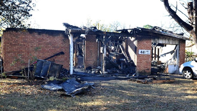 The Wichita Falls Fire Department worked the scene of a house fire in the 4600 block of Tradewinds Road early Monday morning.
