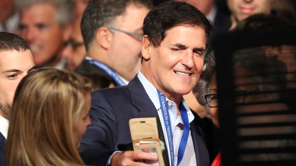 Mark Cuban arrives to attend the first presidential