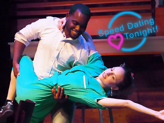 "A promotional image for Michael Ching's ""Speed Dating Tonight"""