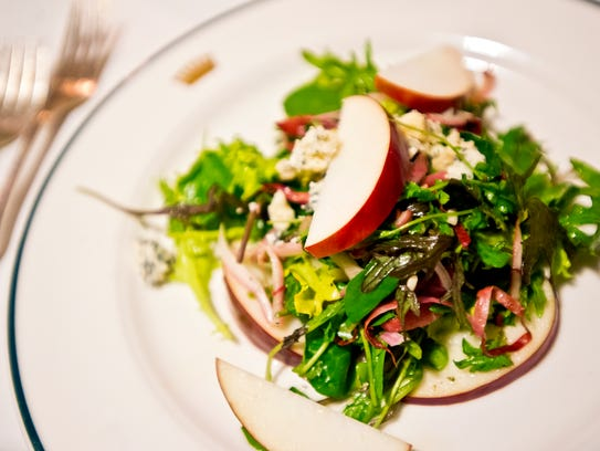 Local apple salad at Trapp Family Lodge in Stowe received