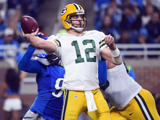Green Bay quarterback Aaron Rodgers has a 7-6 career record in the postseason.