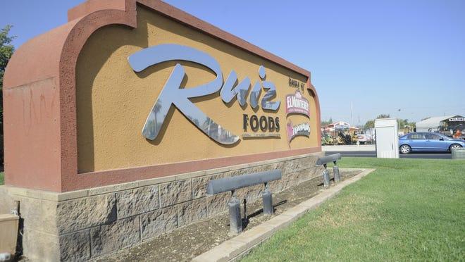 A file photo of Ruiz Foods in Dinuba.