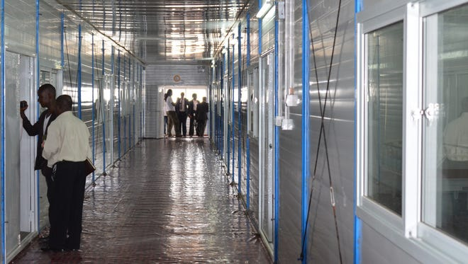 Inside a Chinese-built 100-bed Ebola treatment center in Monrovia on Nov. 25.
