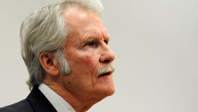 Gov. John Kitzhaber at a press conference last month.