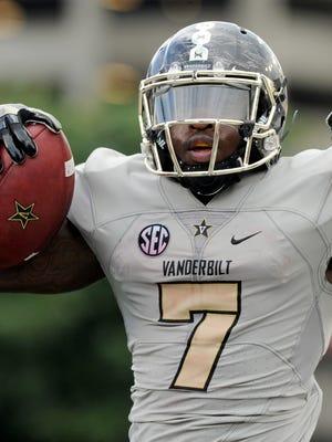 Vanderbilt running back Ralph Webb leads the SEC in rushing this season.
