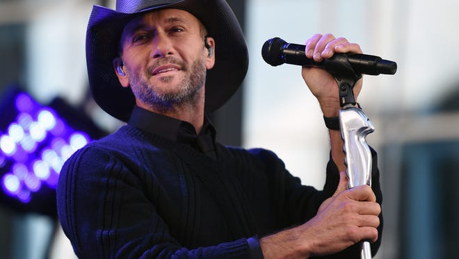 Tim McGraw will perform at Common Ground Music Festival on Thursday, July 7.