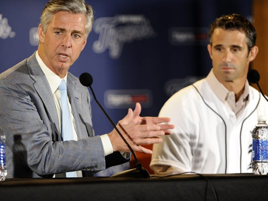 Dave Dombrowski introduces new Tigers manager Brad