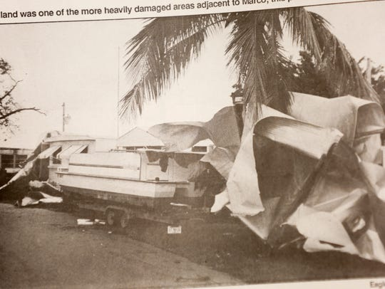 A photo in a newspaper clipping of the Marco Eagle,