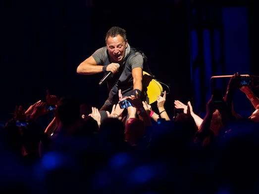 Bruce Springsteen interacted with the crowd during