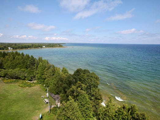 The tower at the Cana Island Lighthouse provides stunning