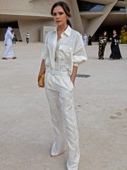 Victoria Beckham arrives for the inauguration ceremony for the National Museum of Qatar.