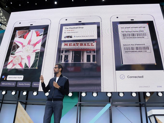 Google CEO Sundar Pichai talks about Google Lens and