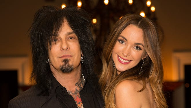 Musician Nikki Sixx and model Courtney Bingham attend their pre-wedding bash on March 1, 2014 in Los Angeles, California.