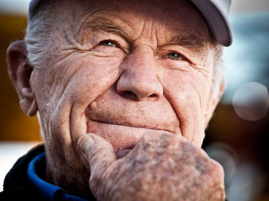 American aviation icon Gen. Chuck Yeager is photographed