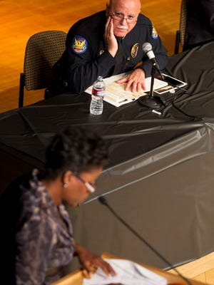 Phoenix Police Chief Daniel V. Garcia joins a dialogue at a town hall Sunday on the city's racially tied challenges.