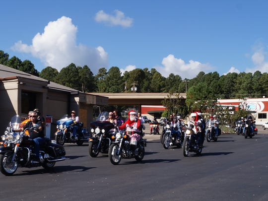Here they come! The 2017 Golden Aspen Motorcycle Rally Parade begins at Albertson's parking lot at Ruidoso Saturday.