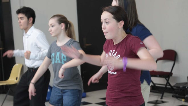"""Strauss Youth Academy for the Arts was a beehive of activity as youth work in the Creative Kids Workshop, SYAA on Tour rehearse dance steps. Downstairs and two plays """"Little Women"""" and """"You're a Good Man, Charlie Brown"""" continue rehearsals."""